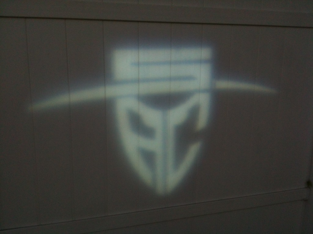 Santa Ana College logo used in a gobo for easy location of the entrance