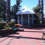 Ceremony gazebo (undecorated day before wedding)