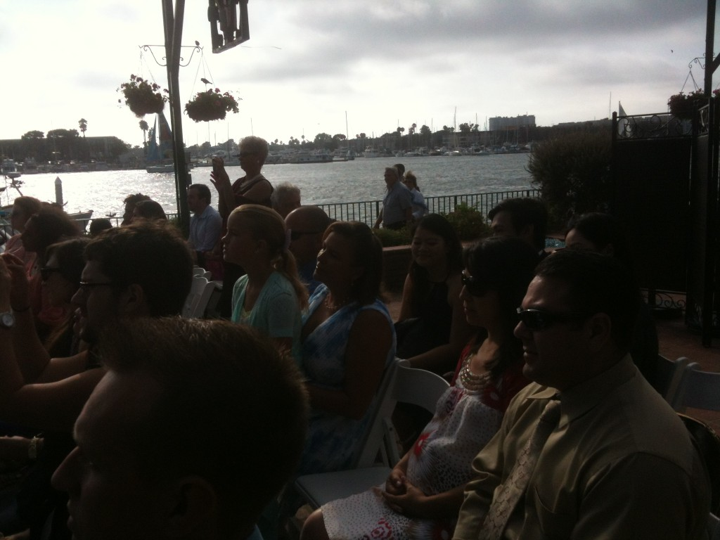 Ceremony view of the harbor