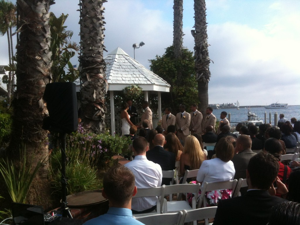 Ceremony on the patio