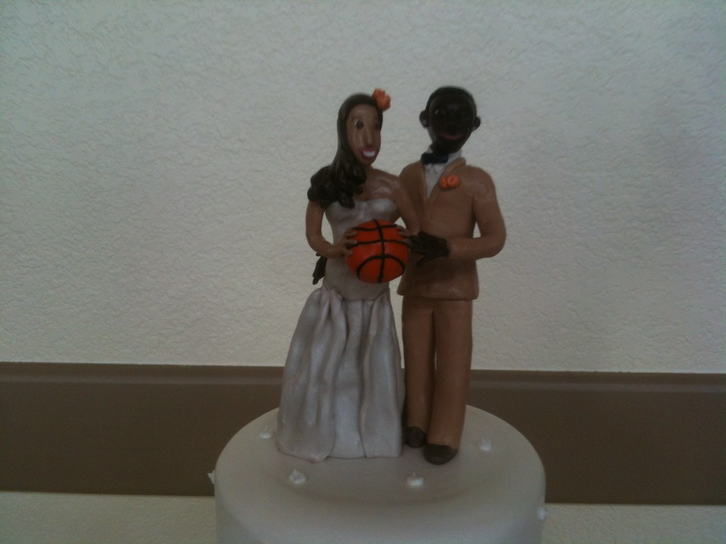 Custom-made, personalized cake topper